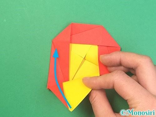 折り紙で椿の折り方手順29