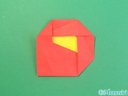 折り紙で椿の折り方手順30