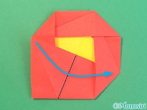 折り紙で椿の折り方手順31