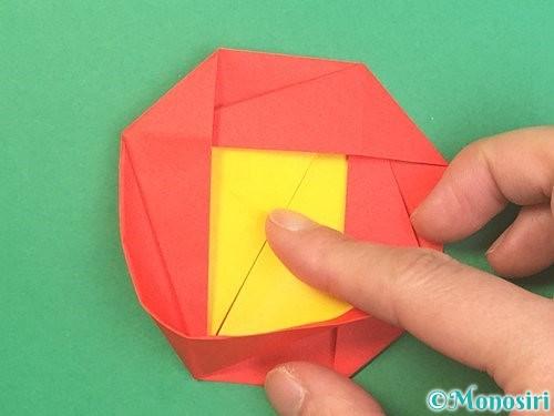 折り紙で椿の折り方手順32