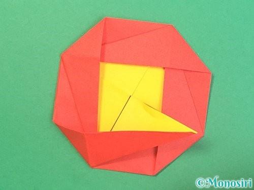 折り紙で椿の折り方手順34