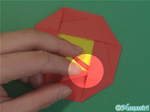 折り紙で椿の折り方手順36