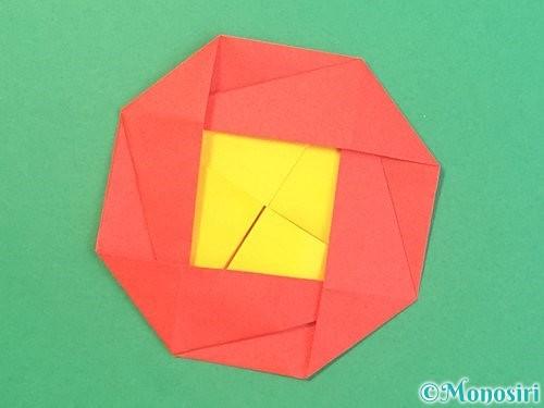 折り紙で椿の折り方手順37