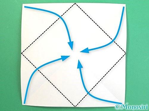 折り紙で水仙の立体的な折り方手順3