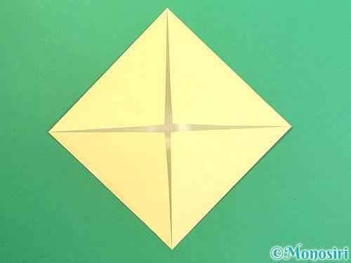 折り紙で水仙の立体的な折り方手順4
