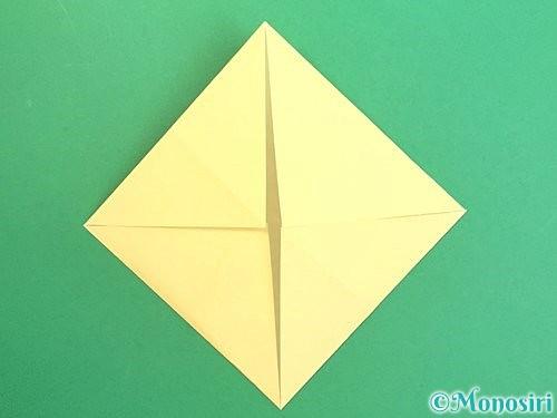 折り紙で水仙の立体的な折り方手順6