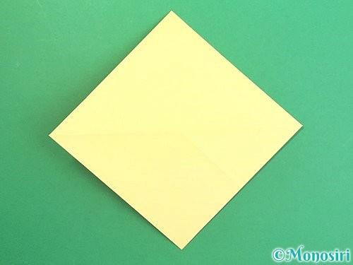 折り紙で水仙の立体的な折り方手順7