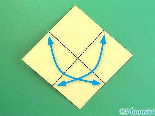 折り紙で水仙の立体的な折り方手順8