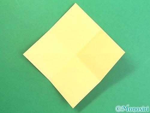折り紙で水仙の立体的な折り方手順9