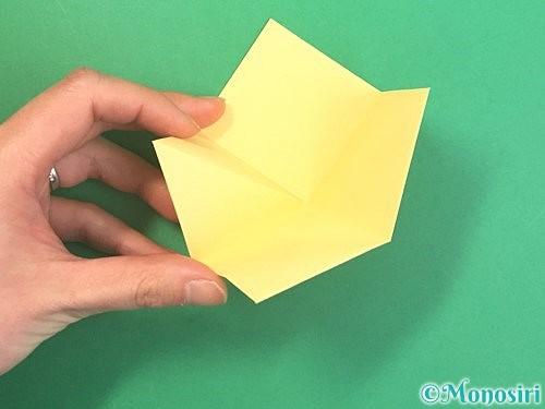 折り紙で水仙の立体的な折り方手順10