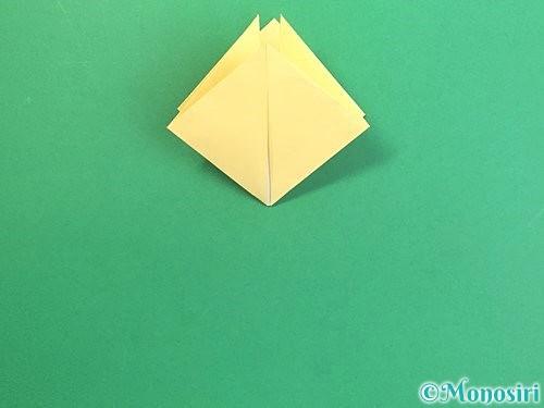 折り紙で水仙の立体的な折り方手順12
