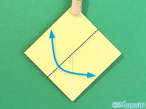 折り紙で水仙の立体的な折り方手順13