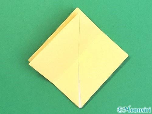 折り紙で水仙の立体的な折り方手順14