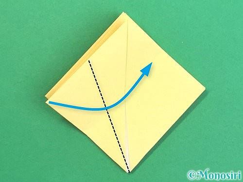 折り紙で水仙の立体的な折り方手順15