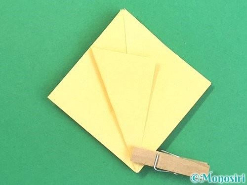 折り紙で水仙の立体的な折り方手順16