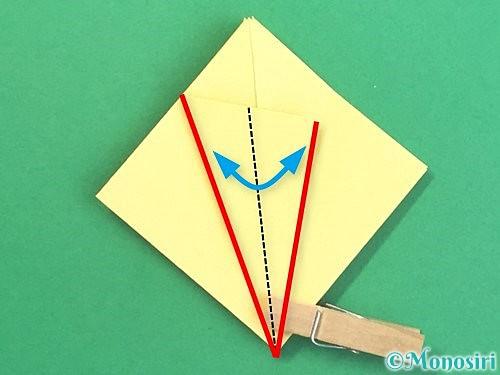 折り紙で水仙の立体的な折り方手順17