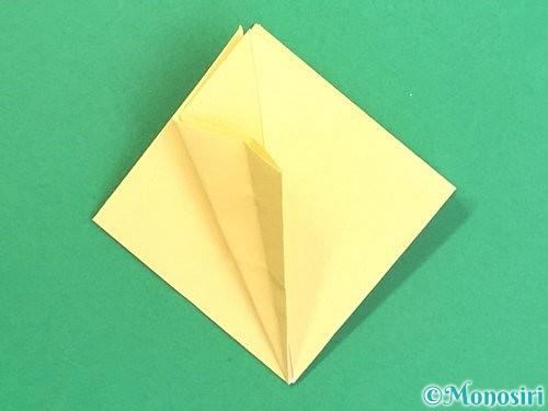 折り紙で水仙の立体的な折り方手順18