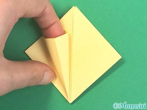 折り紙で水仙の立体的な折り方手順20