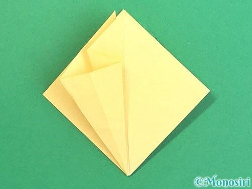 折り紙で水仙の立体的な折り方手順21