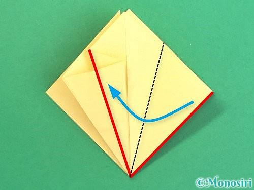 折り紙で水仙の立体的な折り方手順22