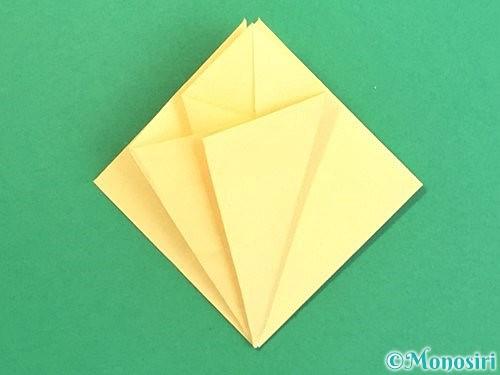 折り紙で水仙の立体的な折り方手順23