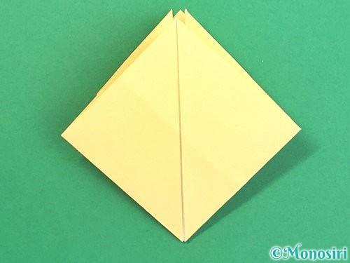 折り紙で水仙の立体的な折り方手順25