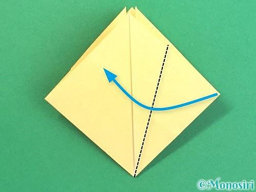 折り紙で水仙の立体的な折り方手順26
