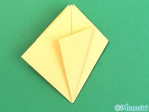 折り紙で水仙の立体的な折り方手順27
