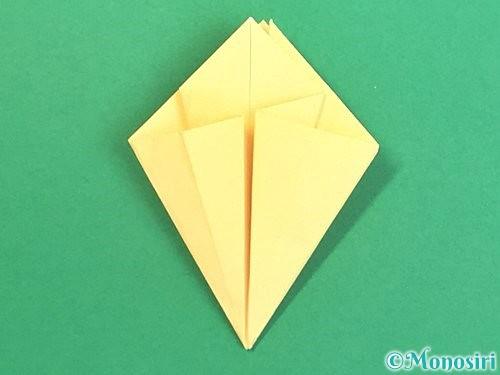 折り紙で水仙の立体的な折り方手順28