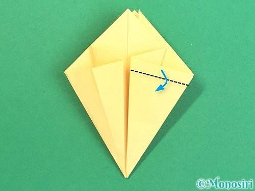 折り紙で水仙の立体的な折り方手順29