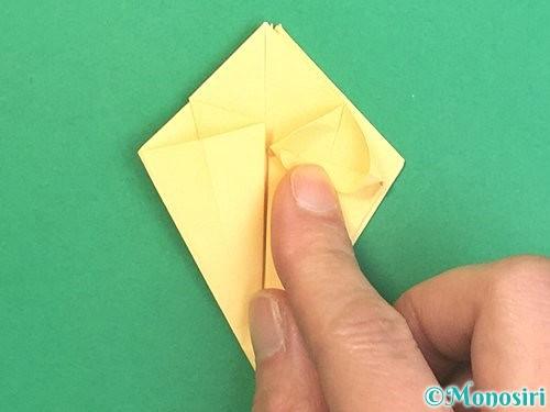 折り紙で水仙の立体的な折り方手順30