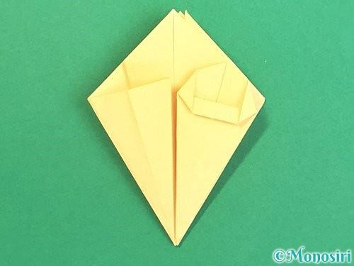 折り紙で水仙の立体的な折り方手順31