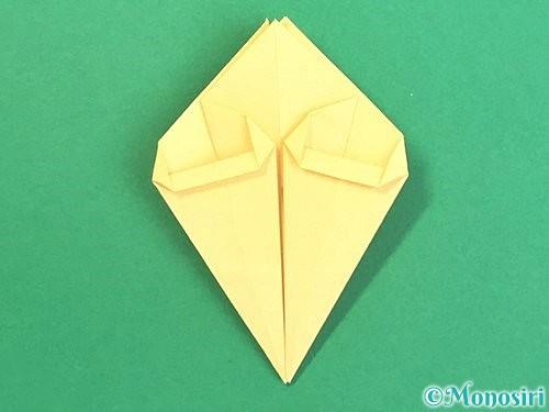 折り紙で水仙の立体的な折り方手順33