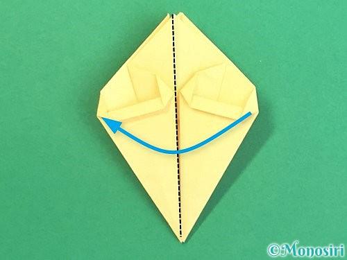 折り紙で水仙の立体的な折り方手順34