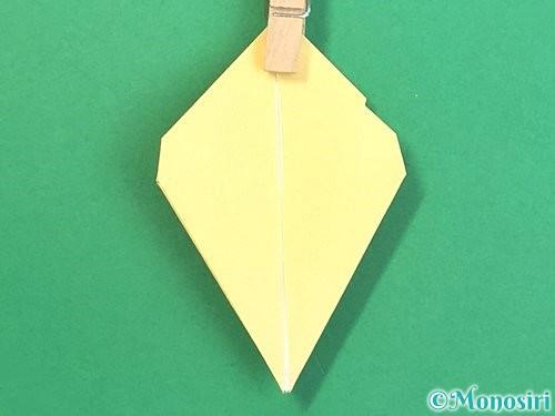 折り紙で水仙の立体的な折り方手順35