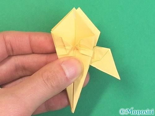 折り紙で水仙の立体的な折り方手順41