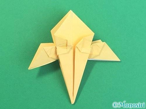 折り紙で水仙の立体的な折り方手順42