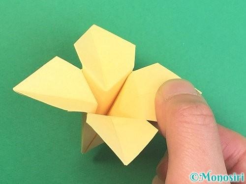 折り紙で水仙の立体的な折り方手順45