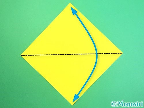 折り紙で水仙の立体的な折り方手順47