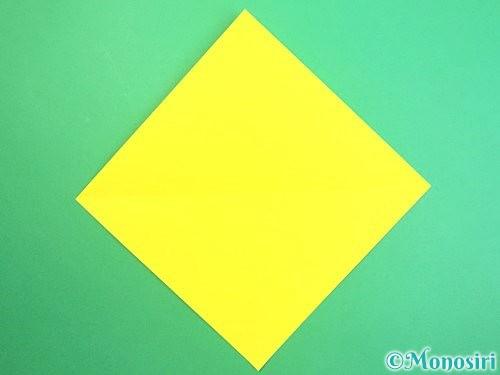 折り紙で水仙の立体的な折り方手順48