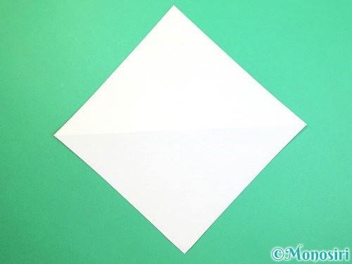 折り紙で水仙の立体的な折り方手順49