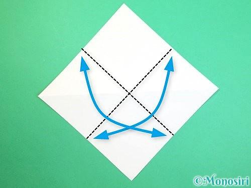 折り紙で水仙の立体的な折り方手順50