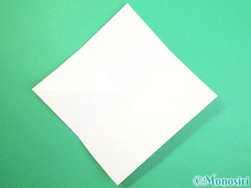 折り紙で水仙の立体的な折り方手順51