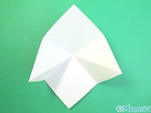 折り紙で水仙の立体的な折り方手順52
