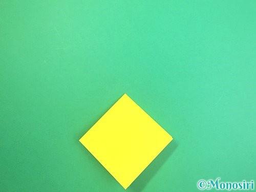折り紙で水仙の立体的な折り方手順54