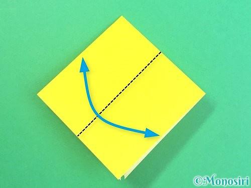 折り紙で水仙の立体的な折り方手順55