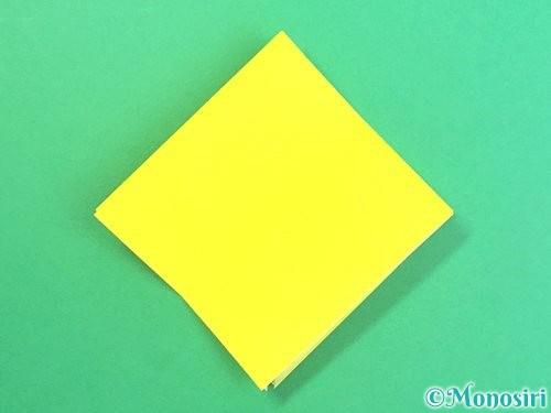折り紙で水仙の立体的な折り方手順56