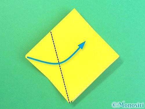 折り紙で水仙の立体的な折り方手順57