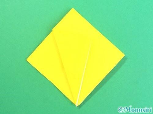 折り紙で水仙の立体的な折り方手順58