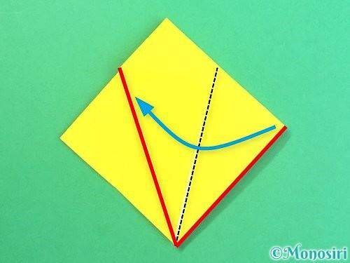 折り紙で水仙の立体的な折り方手順59